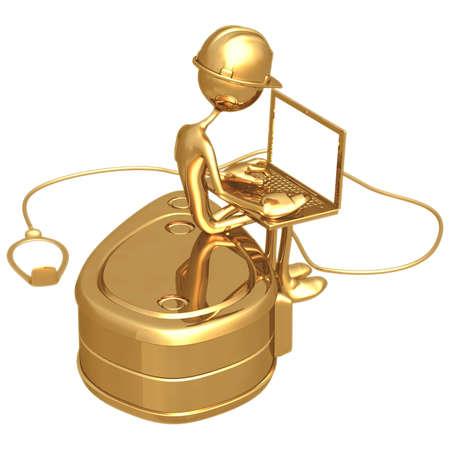 icon idea idiom illustration: Line Reel Laptop