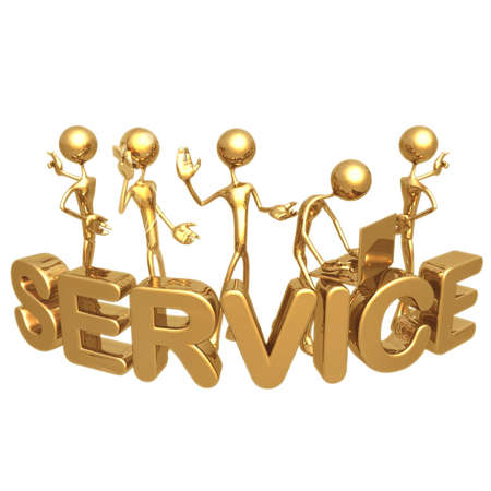 troubleshoot: SERVICE Stock Photo