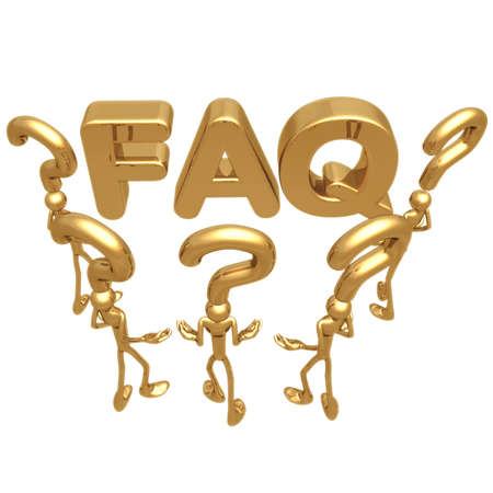 idioms: FAQ Stock Photo