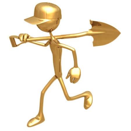 gold shovel: Carry Shovel