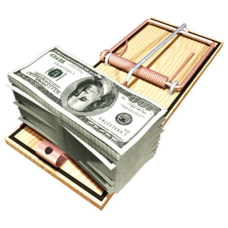 Money Trap (with clipping path) photo