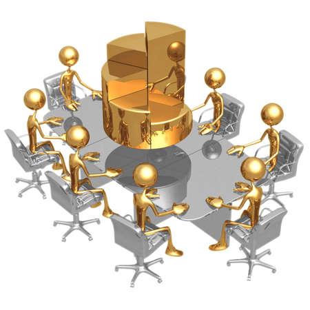 Pie Chart Meeting photo