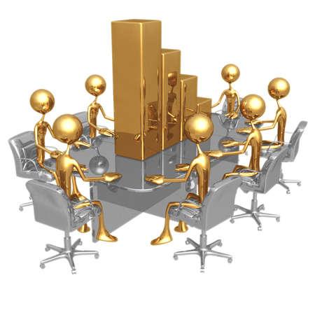 bar graph: Bar Graph Meeting Stock Photo