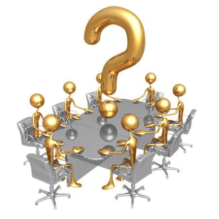 Question Meeting Zdjęcie Seryjne