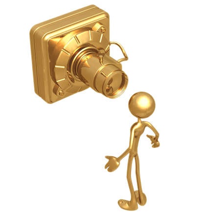lookout: Big Security Camera Stock Photo