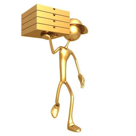 idioms: Pizza Delivery Stock Photo