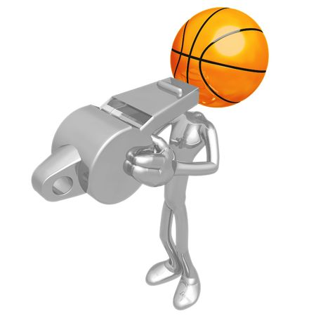 Basketball Whistle 版權商用圖片