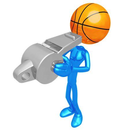 Basketball Whistle Banco de Imagens