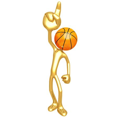 Number One Basketball Stock Photo