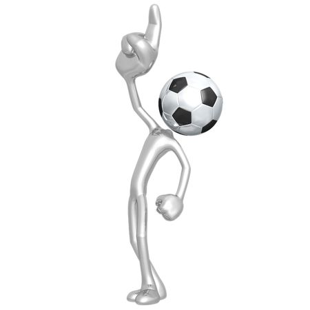 Number One Soccer Football Stock Photo