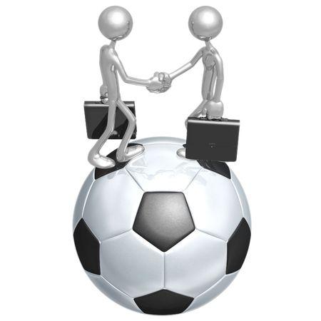 Voet bal Football Business Stockfoto - 4355905