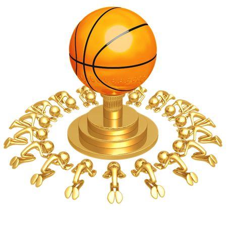 Basket bal Aanbidding Stockfoto