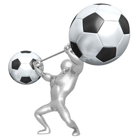 Soccer Football Weight Training Stockfoto