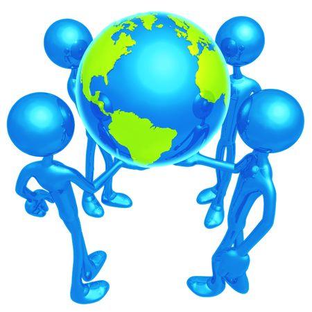 Monde dans nos mains. Banque d'images - 4364975