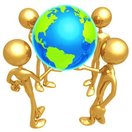 Monde dans nos mains.  Banque d'images - 4365040