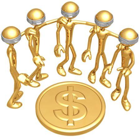 ドル硬貨にブラインド
