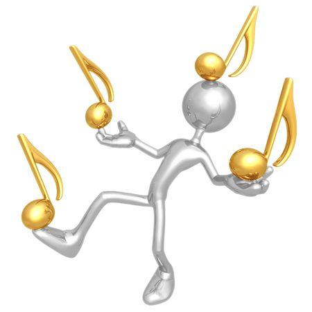 Balancing Music Notes Reklamní fotografie