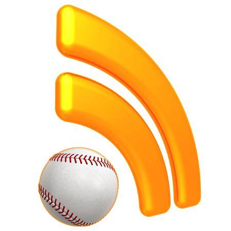 RSS Baseball Feed 版權商用圖片