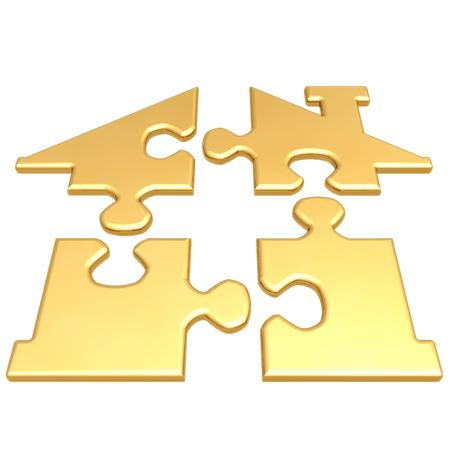 Realty Puzzle Stock Photo
