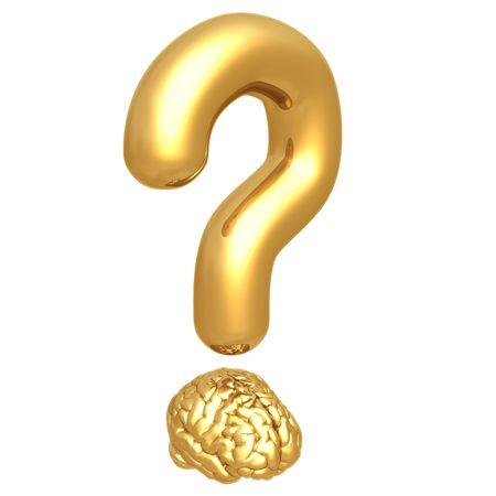 Question Mark Brain Stock Photo - 4388618