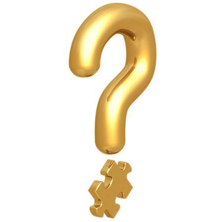Question Mark Puzzle Piece Stok Fotoğraf