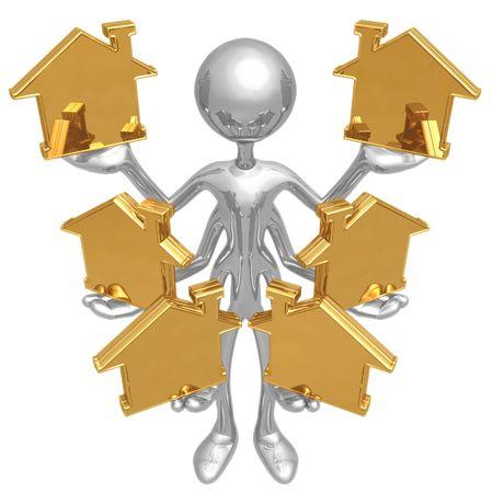 処理複数の家