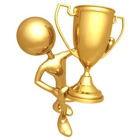 Trophy Winner Stock Photo - 4402114