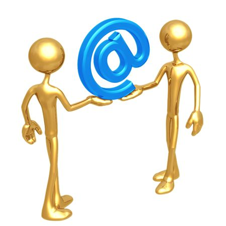 Shared Email Symbol Stock Photo