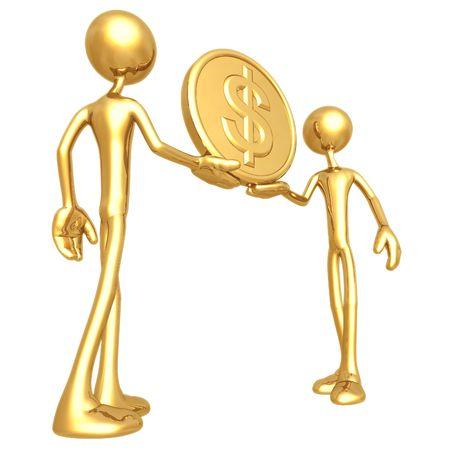 Holding Gold Dollar Coin