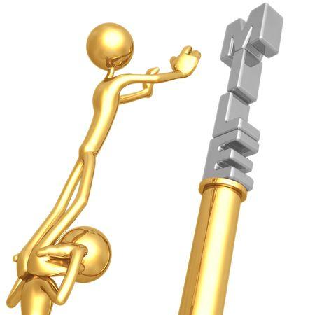 Für Teamarbeit erreichen Meilenstein Standard-Bild - 4401270