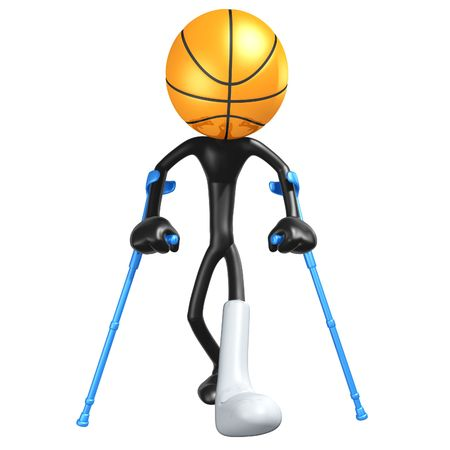 Injured Basketball Player Stock Photo - 4411655