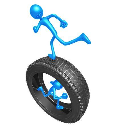 Teamwork Tire Runners Reklamní fotografie