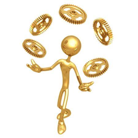 Juggling Gears Фото со стока - 4412377