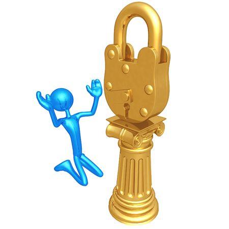 Lock Idol Foto de archivo