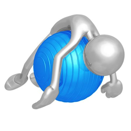 Yoga Pilates Physio Ball Exhaustion 免版税图像