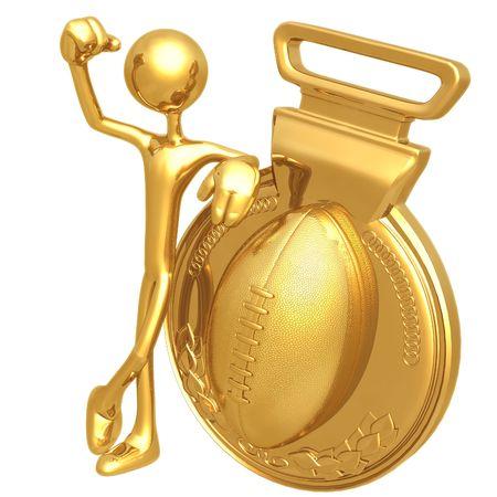 Gold Medal Football Winner Imagens