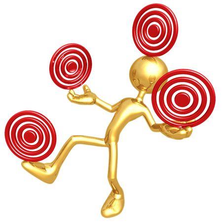 Balancing Targets Stok Fotoğraf