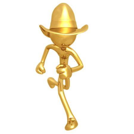 Laufenden Cowboy Standard-Bild