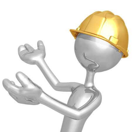Construction Presenter Stock Photo