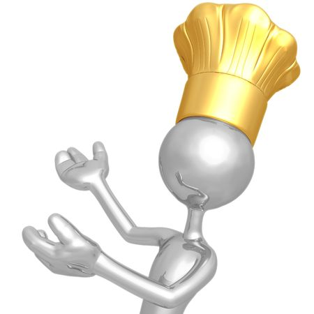 Chef Presenter Stock Photo - 4429576