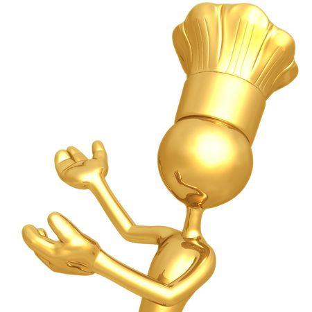 Chef Presenter 免版税图像 - 4429604