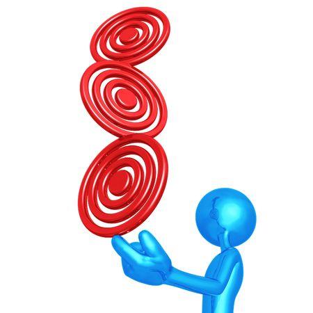 Balancing Targets Stock Photo