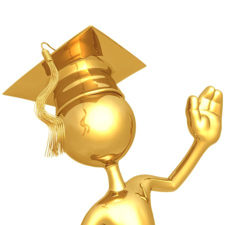 Graduate Waving Stok Fotoğraf