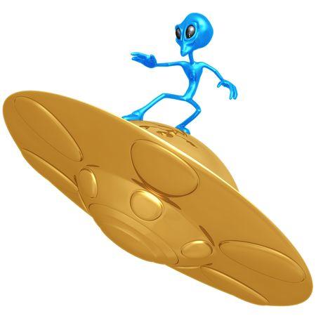 Alien surfen UFO