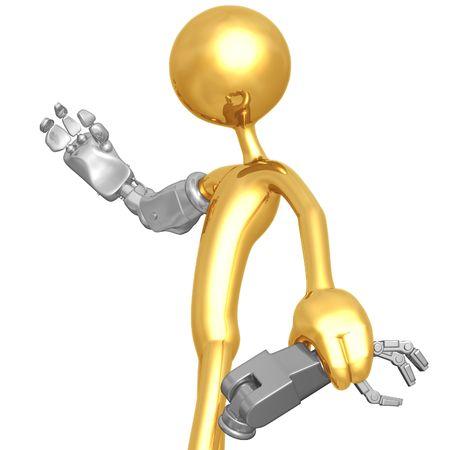 Cyborg Arm Upgrade Stok Fotoğraf