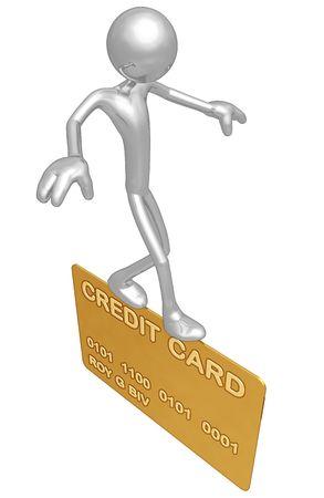 Balancing On Gold Credit Card