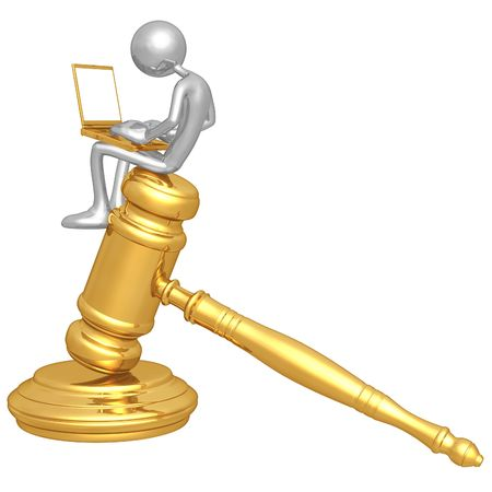 Legal Research Online Stock Photo - 4758832