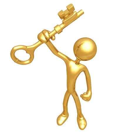 The Golden Key Holding  Standard-Bild - 4759212