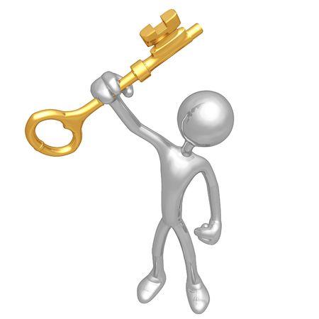 Holding The Golden Key Stock Photo - 4759147