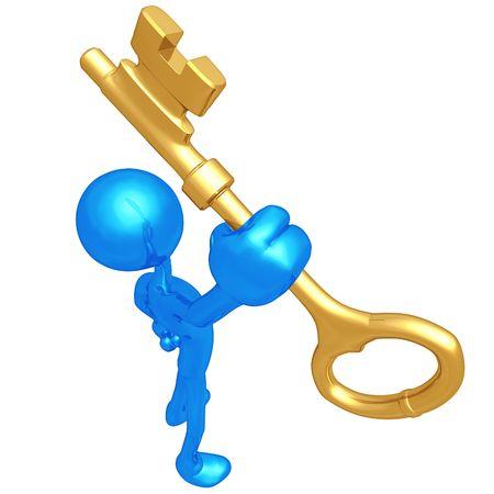Houden de gouden sleutel